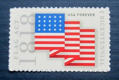 Sc # 5284  ~ Forever Issue, Flag Act of 1818 (de24)