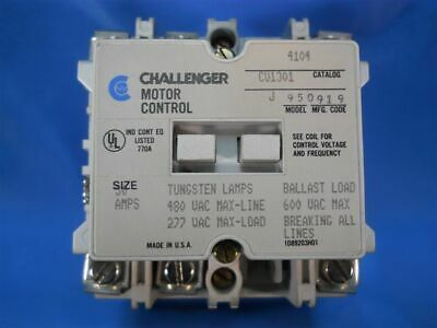 Challenger AC Lighting Contactor 4104CU1301, Model J, 30 Amps 110/120V Coil