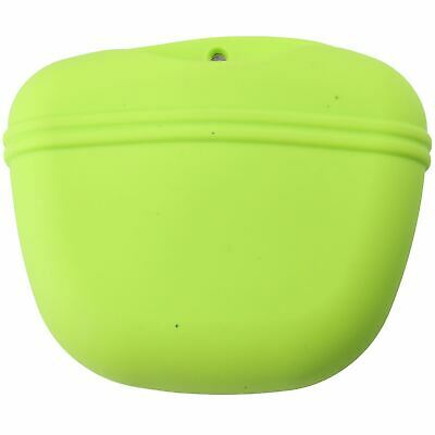 Portable Silicone Magnetic Opening Dog Pet Training Treat Bag With Clip