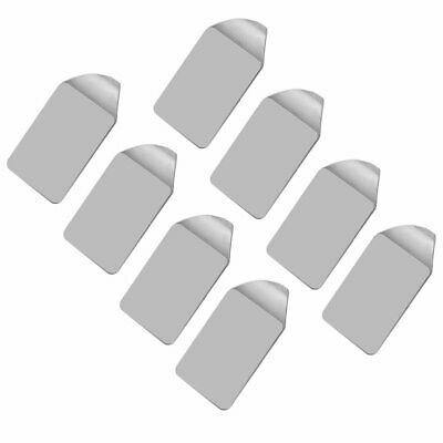 8 pcs Self Adhesive Wall Door Stainless Steel Stick Hook Hanger Home Kitchen BR