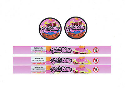 GELATO CAKE Cali Tin Labels Stickers / Tuna Can Labels *BEST QUALITY*