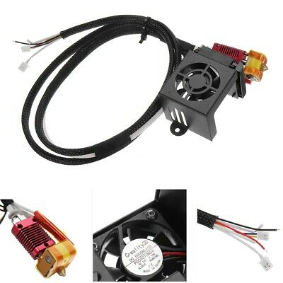 Creality 3D Full Assembled MK10 Extruder Hot End Kits With 2PCS Cooling Fans For