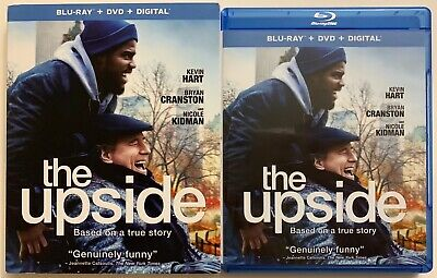 The Upside Blu Ray Dvd 2 Disc Set + Slipcover Sleeve Kevin Hart Based True Story