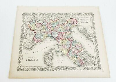 Antique 1855 Map of Northern Italy by J.H. Colton & Co.