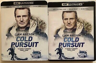 Cold Pursuit 4K Ultra Hd Blu Ray 2 Disc Set + Slipcover Sleeve Free Shipping