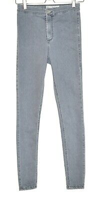 Topshop JONI Super Skinny High Waisted Grey Stretch Jegging Jeans 10 W28 L32
