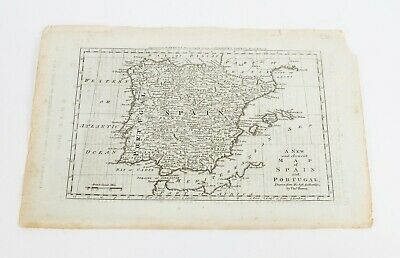 A New and Accurate Map of Spain and Portugal by Thos. Bowen