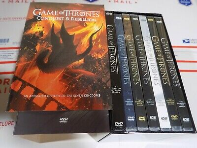 Game of Thrones: Complete Series seasons 1-7 + Conquest & Rebellion  dvd boxset