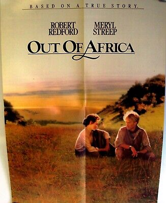 OUT OF AFRICA Original Program Ad  POSTER Meryl Streep ROBERT REDFORD Pollack 84