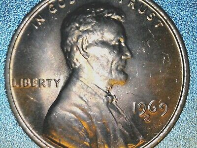 1969-S Lincoln Cent Double Die Observe