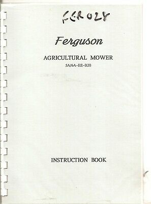 Ferguson Agricultural Mower Instruction Book  ..........................  Manual