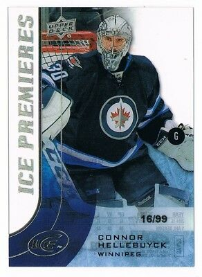 2015-16 Upper Deck Ice Premieres Rookie #195 Connor Hellebuyck 16/99 RC