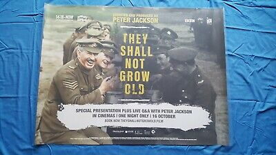 They Shall Not Grow Old UK Cinema Quad Movie Poster