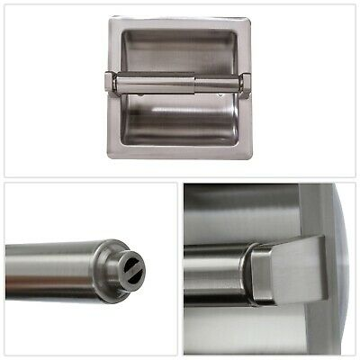 Toilet Paper Holder Mounting Plate Satin Nickel Stainless Steel Bath Accessories