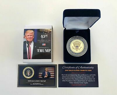 President Donald Trump...TRUMP 2020..KEEP AMERICA GREAT.. Coin in  Case