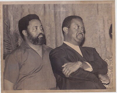 CIVIL RIGHTS Hosea Williams & Ralph Abernathy 1968 VINTAGE photo by Dave Didio