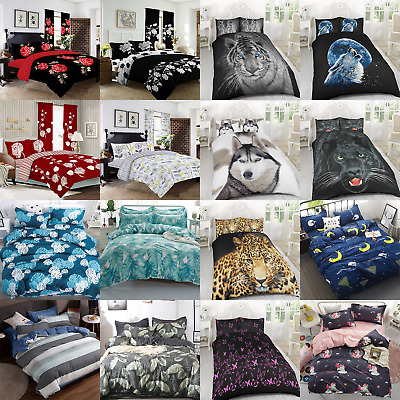 Soft Duvet Cover Set Pillow Cases Quilt Bedding Sets Single Double King 3D Kids