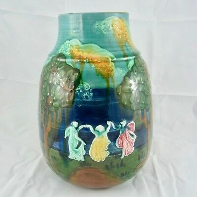 "schöne Keramik-Vase Wardle England ""THREE GRACES FAIRY DANCE"""