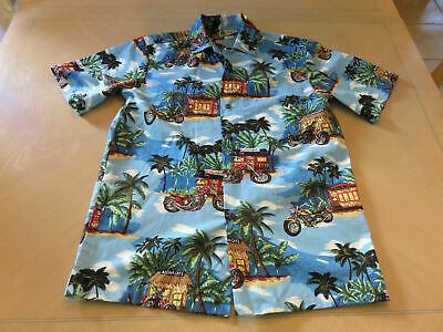 ffc3265b Aloha Republic Hawaiian Aloha Shirt Mens S Made In The USA motorcycles palm  tree