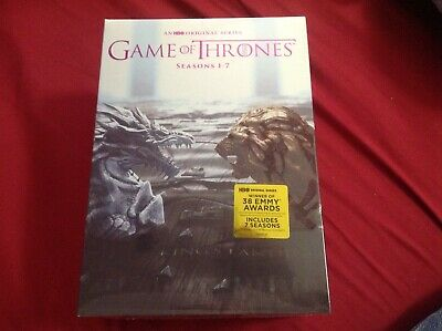 Game of Thrones: The Complete Seasons 1-7 DVD, 2017 34 Disc New & Sealed