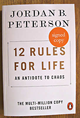 12 Rules for Life: An Antidote to Chaos - Jordan B. Peterson - SIGNED Paperback
