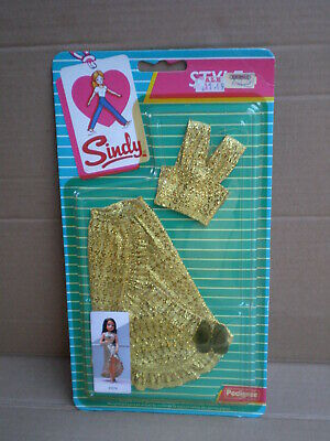 Vintage Sindy Doll Daring Dazzler Outfit Golden Fashion Pack 1985 Pedigree 43076