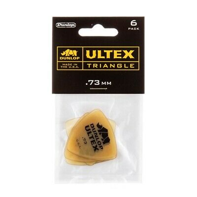 .73mm Triangle 6 Pack 426P.73 Dunlop Guitar Picks  Ultex  Tri