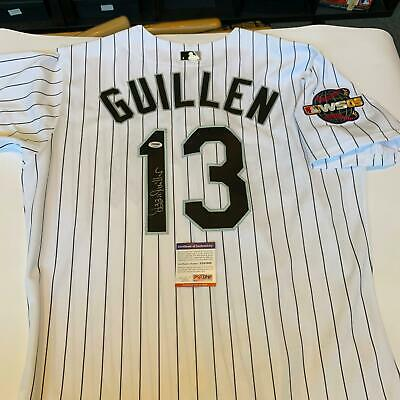 060c89753 Ozzie Guillen Signed Authentic 2005 World Series Chicago White Sox Jersey  PSA