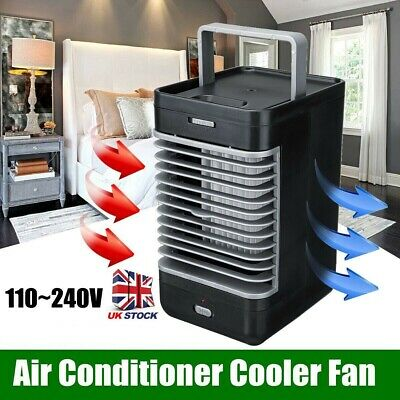 Portable Air Conditioner Cooler Humidifier Purifier Mini Fan Cooling Flow Filter