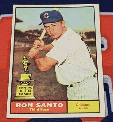 1961 Topps #35 Ron Santo Rookie Card Chicago Cubs (Inventory #1)