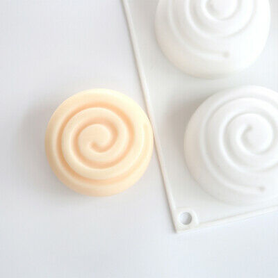 Round Silicone Soap Mold 6 Cavities Mousse Cake Mould Soap TEUS