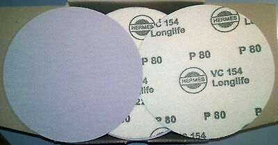 """Hermes VC 154-Longlife VEL 80 grit 5"""" hook and loop disc qty 100 discs"""