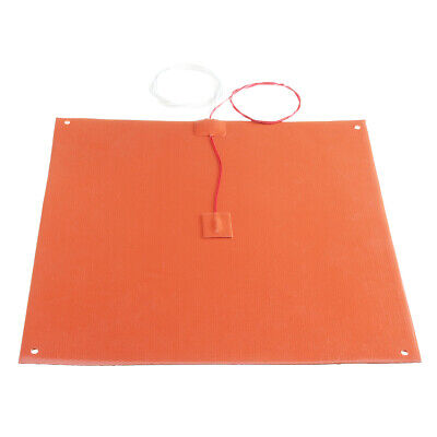 300x300mm 120v/220v 750W Silicone Heated Bed Heating Pad With Hole For 3D Printe