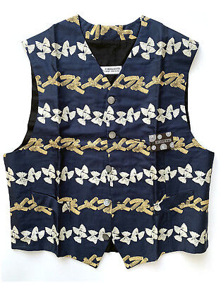 FORNASETTI Waistcoat PENNE & FARFALLE New Vintage unused from private collector