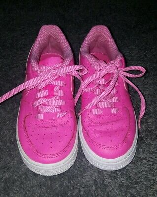 54fe422cc7 Older Girls Pink Pow Nike air force 1 af1 leather trainers size 3 EU 35.5
