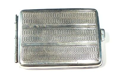 Antique Art Deco Engraved SOLID SILVER Match Case / Vesta B'ham 1930