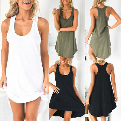 Comfortable Mini A-line Skirt With T-Shirt Dress Solid Color ForHoliday Sundress