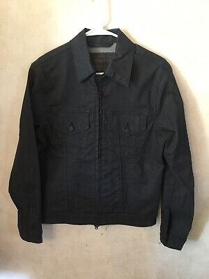 Small Levi Strauss & Co Men's Dark Jean Jacket Zip Up 2 Pockets