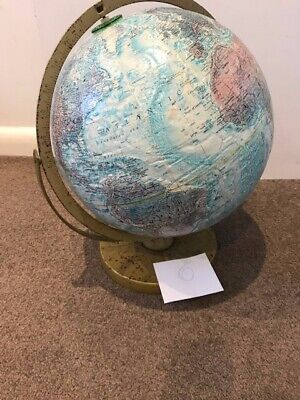 Vintage Repogle 12 Inch World Globe Map 1960S Made In Usa Large