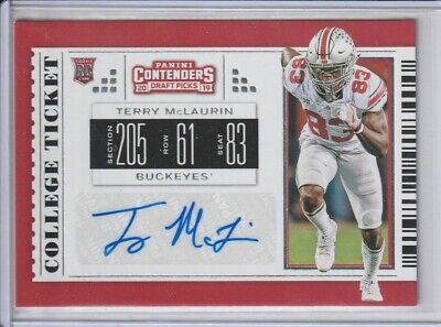 2019 Panini Contenders Autograph AUTO Rookie RC #243 Terry McLaurin Redskins OSU