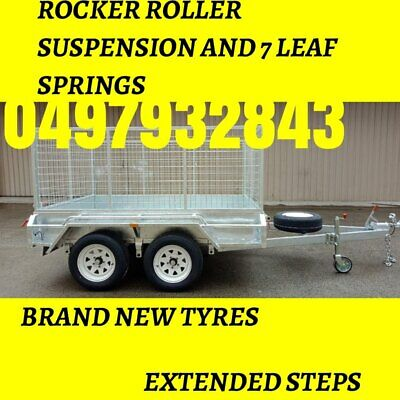 NEW,  8x5 10x5 12x6  ,GALVANISED BOX TANDEM CAGE TRAILERS