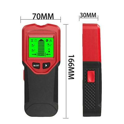 LCD Stud Wood Wall Center Finder Scanner Metal AC Live Wire Detector 3 In 1