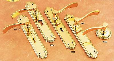 1 PAIR of NEW Solid BRASS DOOR HANDLES in 3 styles - Postage available