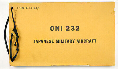 Rare 1943 Restricted WWII ONI 232 & 232S Japanese Military Aircraft ID Booklet