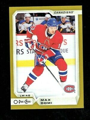 2018/19 Upper Deck Series 2 Gold O-Pee-Chee Update Max Domi Montreal Canadiens