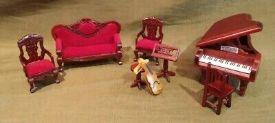 Dollhouse Miniature 1/2 Scale 1:24 Music Room Furniture Town Square