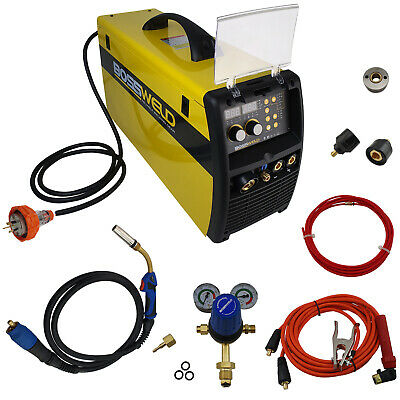 BOSSWELD 250A Synergic double pulse MIG / STICK/TIG Inverter welder 660250