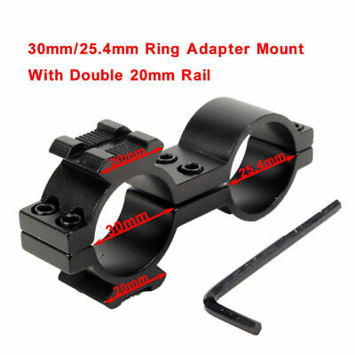 Double Ring Adapter Barrel Tube Mount  25.4mm/30mm Ring For   Flashlight Scope 2
