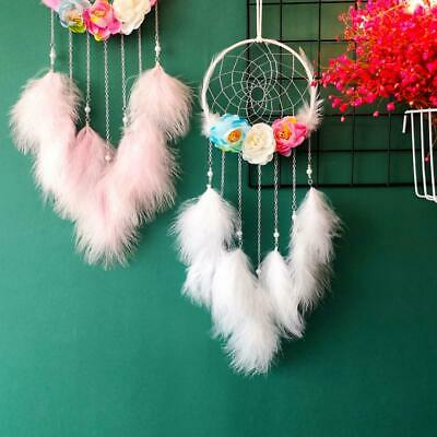 Preserved Fresh Flower Dream Catcher INS Home Decor Wind Chime Feather Pendant