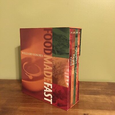 Williams Sonoma Food Made Fast Boxed Set Pasta, Weeknight, Baking, & Soup Nice!